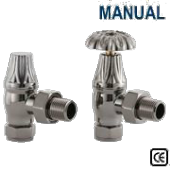 Crocus Black Nickel Manual Radiator Valve